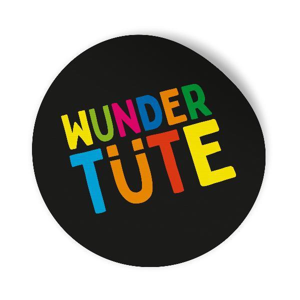 24x Sticker Aufkleber Wundertüte Schwarz / Bunt, Durchme...