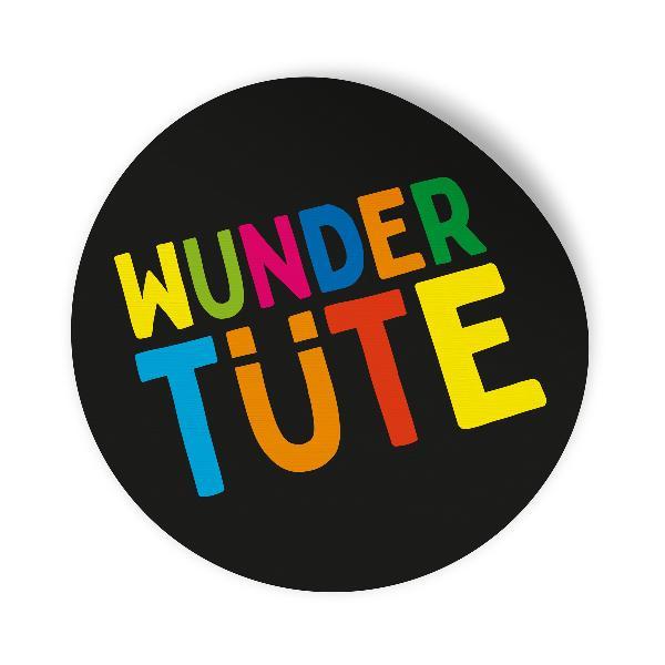 10x Sticker Aufkleber Wundertüte Schwarz / Bunt, Durchme...