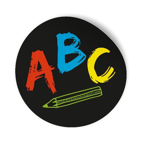 10x Sticker Aufkleber ABC Schulanfang Schwarz / Bunt, Ø ...