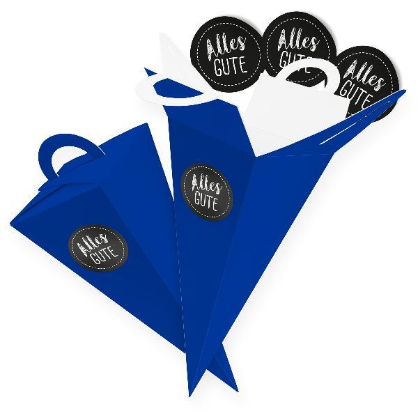 itenga SET V47 Alles Gute 24x Geschenktüte 14 cm, Blau +...