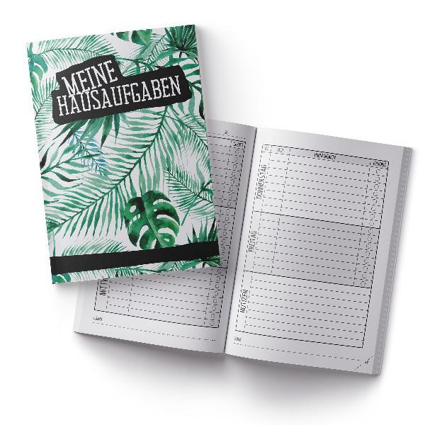 itenga Hausaufgabenheft Palmenblätter (Motiv 2) DIN A5, ...