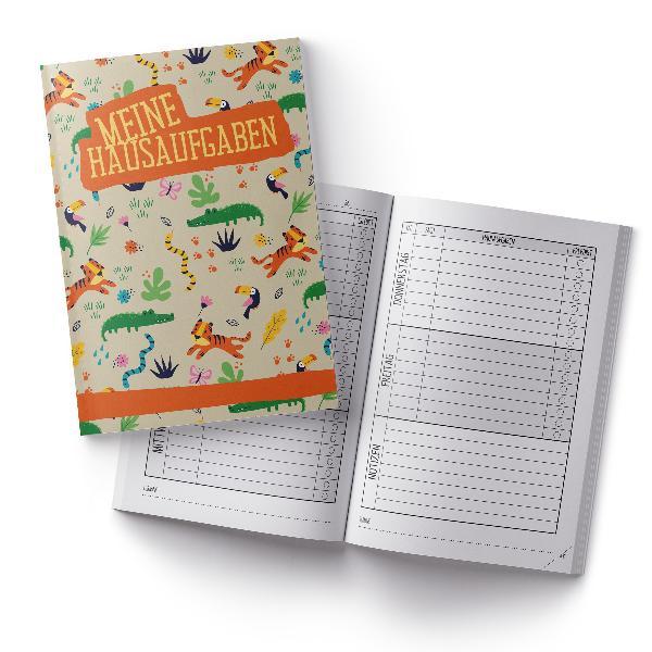 itenga Hausaufgabenheft Dschungeltiere (Motiv 3) DIN A5,...