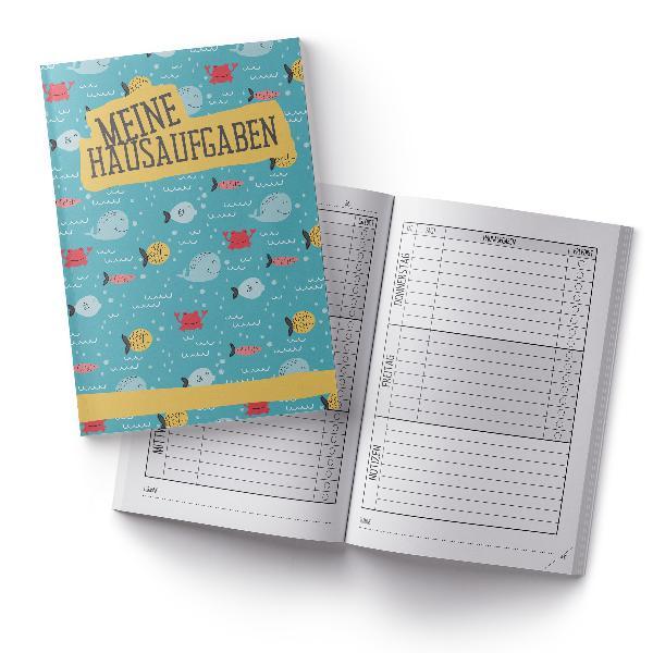itenga Hausaufgabenheft Fische (Motiv 5) DIN A5, 96 Seiten