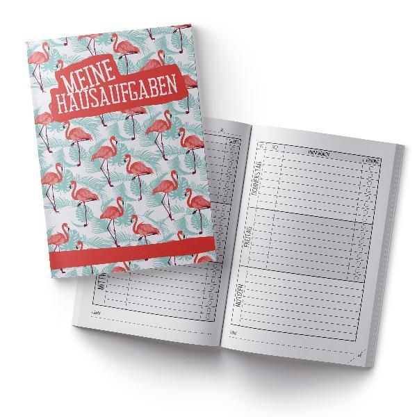 itenga Hausaufgabenheft Flamingo (Motiv 6) DIN A5, 96 Se...