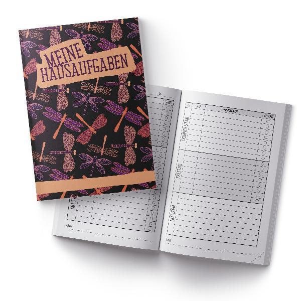 itenga Hausaufgabenheft Libellen (Motiv 7) DIN A5, 96 Se...