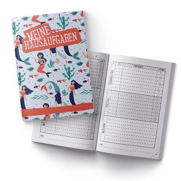 itenga Hausaufgabenheft Meerjungfrauen (Motiv 8) DIN A5,...