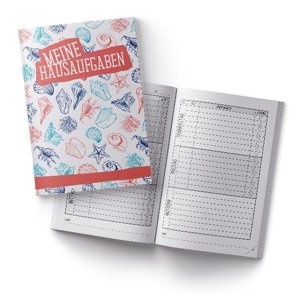 itenga Hausaufgabenheft Muscheln (Motiv 9) DIN A5, 96 Se...