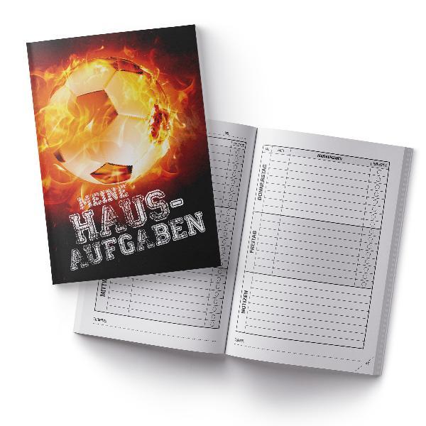 itenga Hausaufgabenheft Fußball Feuer (Motiv 14) DIN A5,...