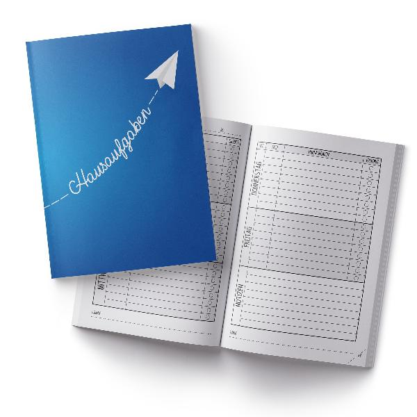 itenga Hausaufgabenheft Papierflieger Blau (Motiv 16) DI...
