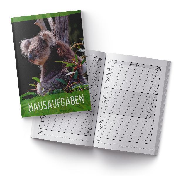 itenga Hausaufgabenheft Koala (Motiv 23) DIN A5, 96 Seiten