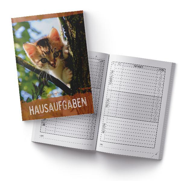 itenga Hausaufgabenheft Katze (Motiv 24) DIN A5, 96 Seiten