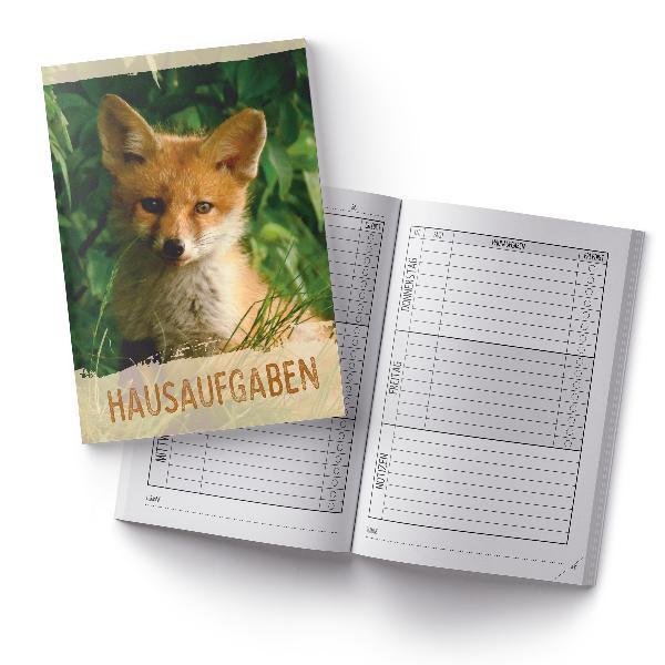 itenga Hausaufgabenheft Fuchs (Motiv 25) DIN A5, 96 Seiten