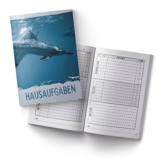 itenga Hausaufgabenheft Delfin (Motiv 26) DIN A5, 96 Seiten