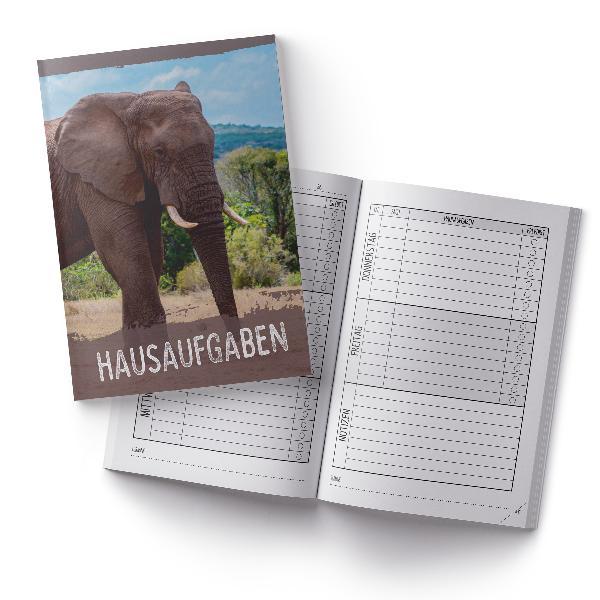 itenga Hausaufgabenheft Elefant (Motiv 28) DIN A5, 96 Se...