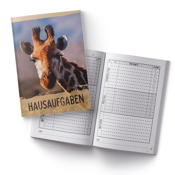 itenga Hausaufgabenheft Giraffe (Motiv 29) DIN A5, 96 Se...