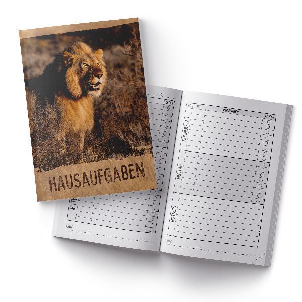 itenga Hausaufgabenheft Löwe (Motiv 30) DIN A5, 96 Seiten