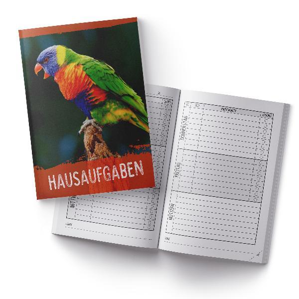 itenga Hausaufgabenheft Papagei (Motiv 31) DIN A5, 96 Se...