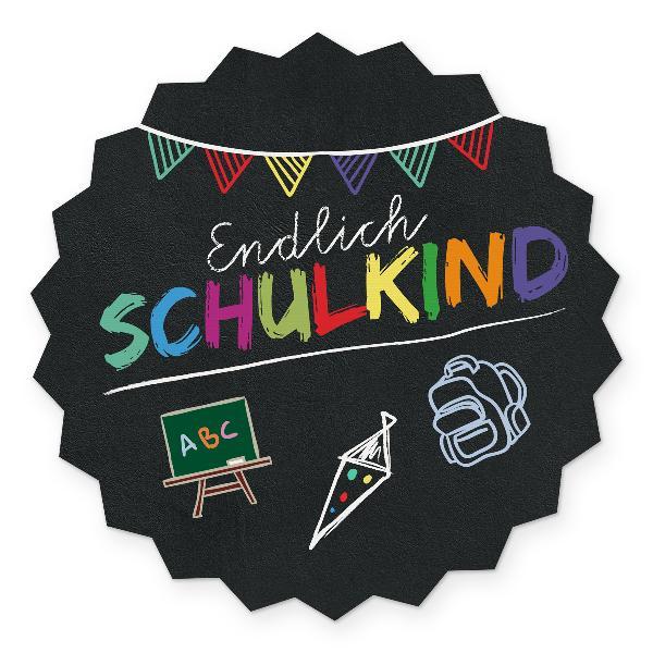 itenga 10x Aufkleber Sticker Endlich Schulkind / Tafel...