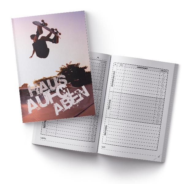 itenga Hausaufgabenheft Skater (Motiv 32) DIN A5, 96 Seiten