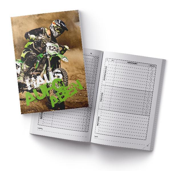 itenga Hausaufgabenheft Motocross (Motiv 35) DIN A5, 96 ...