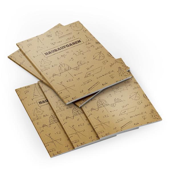 itenga 5x Formeln Kraftpapier (Motiv 39) Hausaufgabenhef...