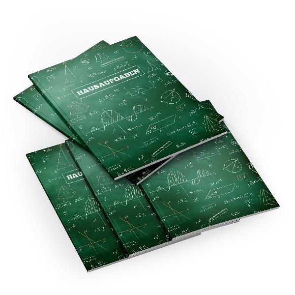 itenga 5x Formeln Tafel (Motiv 40) Hausaufgabenheft DIN ...