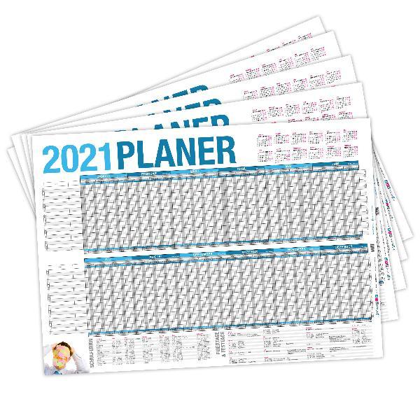 itenga SET 5x Urlaubsplaner 2021 Wandkalender DIN A2 (59...