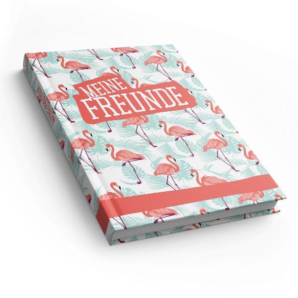 itenga Freundebuch Flamingo Muster DIN A5, 88 Seiten 150...