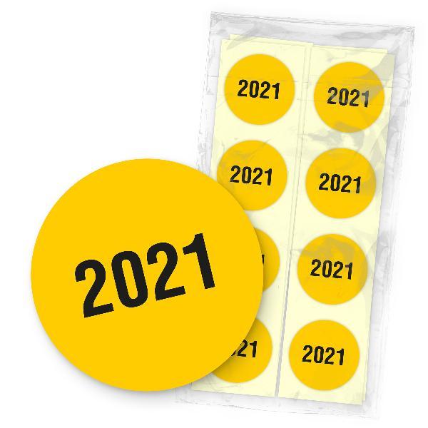 itenga 500x Jahresetiketten 2021 Gelb Sticker Aufkleber ...
