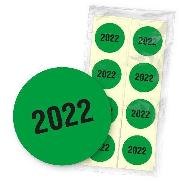 itenga 500x Jahresetiketten 2022 Grün Sticker Aufkleber ...