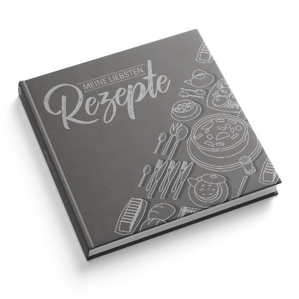 itenga Rezeptbuch Grau Meine liebsten Rezepte Kochbuch...