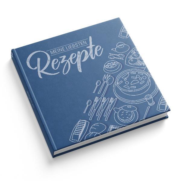 itenga Rezeptbuch Blau Meine liebsten Rezepte Kochbuch...