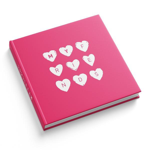 itenga Gästebuch My friends Freundebuch 88 Seiten 21x21cm