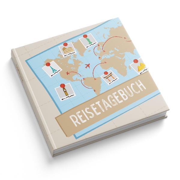 itenga Reisetagebuch Weltkarte Erinnerungsbuch 88 Seit...