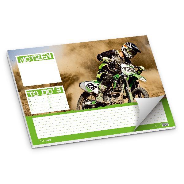 itenga Schreibtischunterlage Motocross, Tischset 50 Blat...