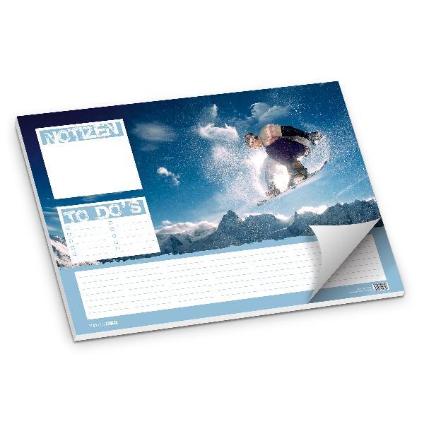 itenga Schreibtischunterlage Snowboard, 50 Blatt Papier,...