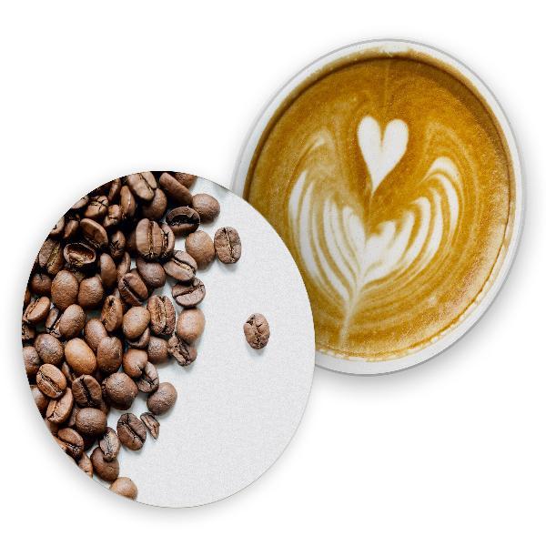 itenga 40x Bierdeckel Kaffeebohnen Crema I Braun Weiß I ...