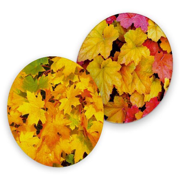itenga 40x Bierdeckel Herbstblätter I Gelb Rot I Unterse...