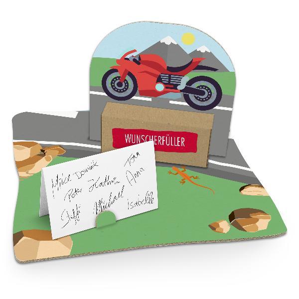 itenga Geldgeschenkverpackung Motorrad (Motiv 102) mit B...