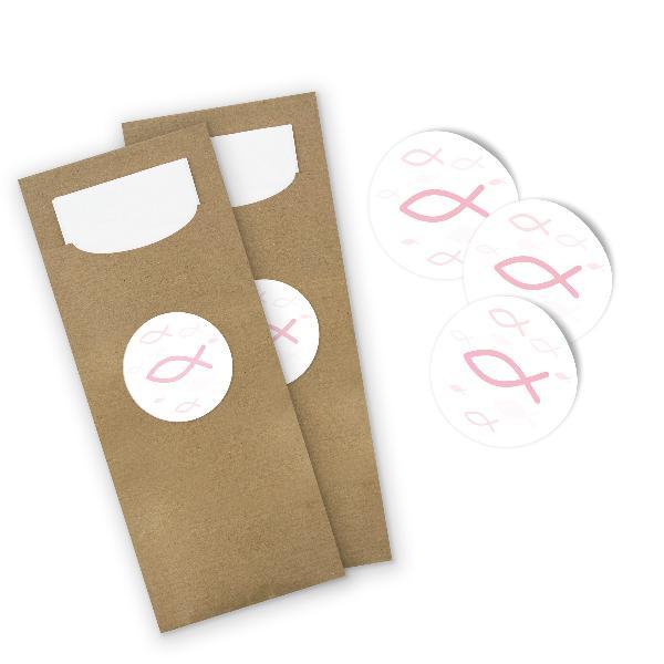 itenga 100x Bestecktasche aus Papier mit Serviette + Sti...