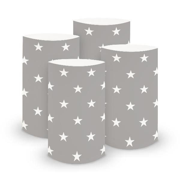 itenga 6x Windlicht klein Sterne für Weihnachten Winter ...
