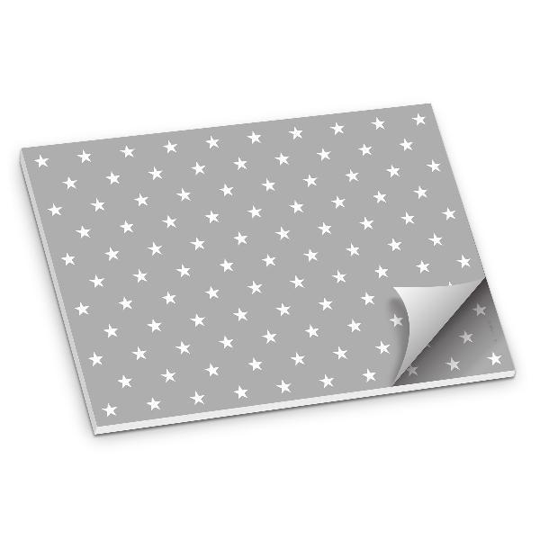 itenga Platzset Tischset Sterne Grau Weiß DIN A3 50 Blatt