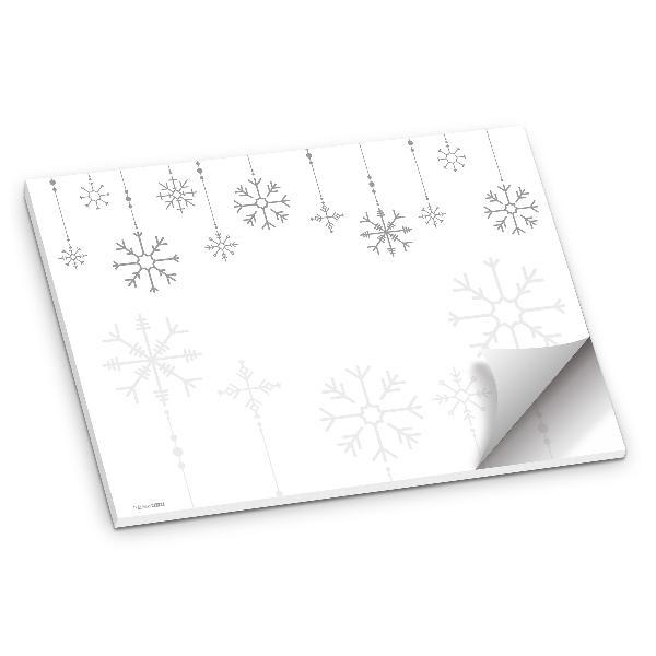 itenga Platzset Tischset Schneeflocken Grau Weiß DIN A...