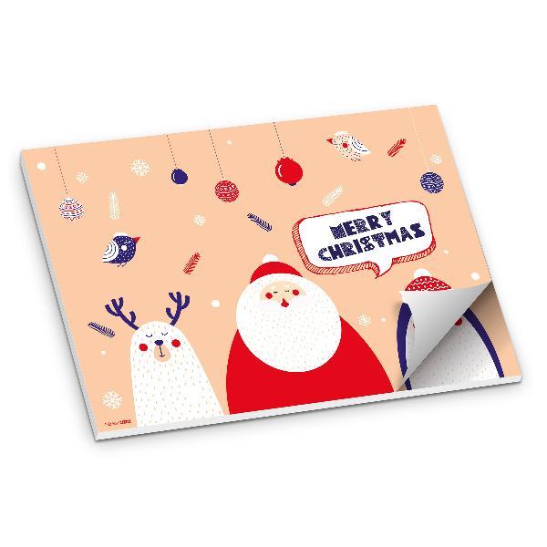 itenga Platzset Tischset Merry Christmas Weihnachtsfigu...
