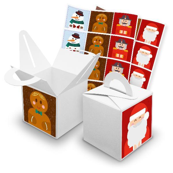 itenga SET V42 Weihnachtsbande quadratisch 24x Würfelbox...
