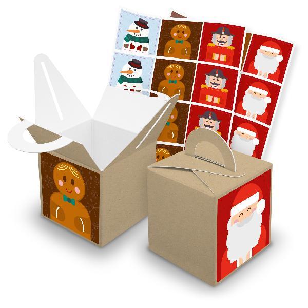 itenga SET V43 Weihnachtsbande quadratisch 24x Würfelbox...