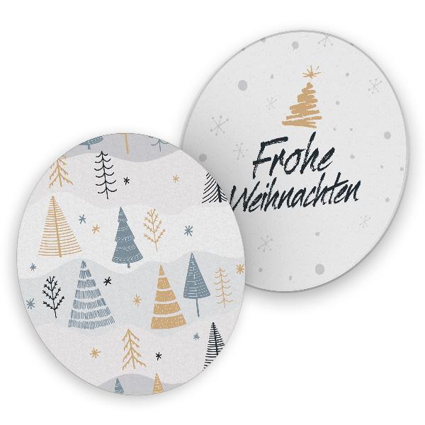 itenga 40x Bierdeckel Tannenbäume I Frohe Weihnachten I ...
