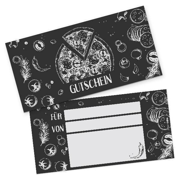 itenga Geschenkgutschein Pizza Zeichnung (Motiv 3), Post...