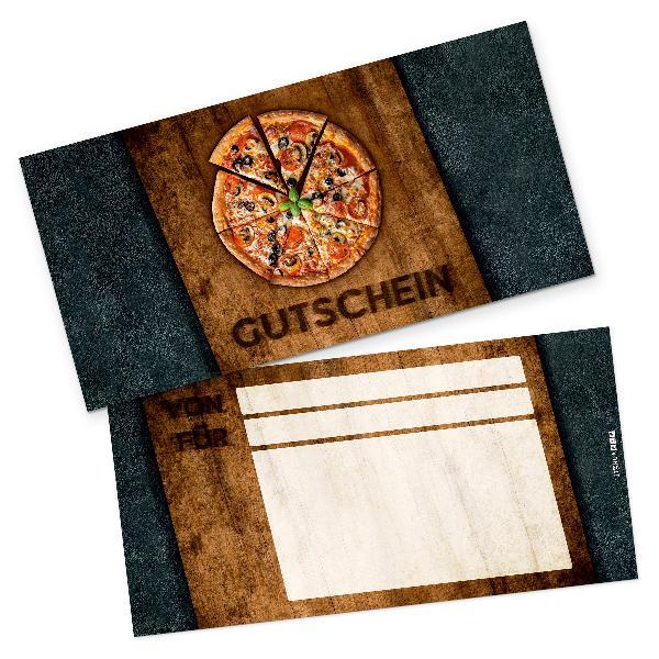 itenga Geschenkgutschein Pizza Holzbrett (Motiv 4), Post...