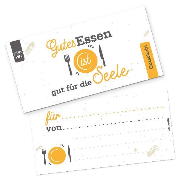 itenga Geschenkgutschein Gutes Essen (Motiv 7), Postkart...